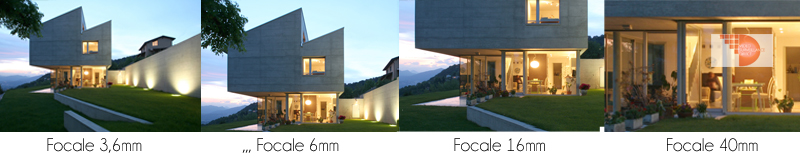 Comparaison de la focale des caméras